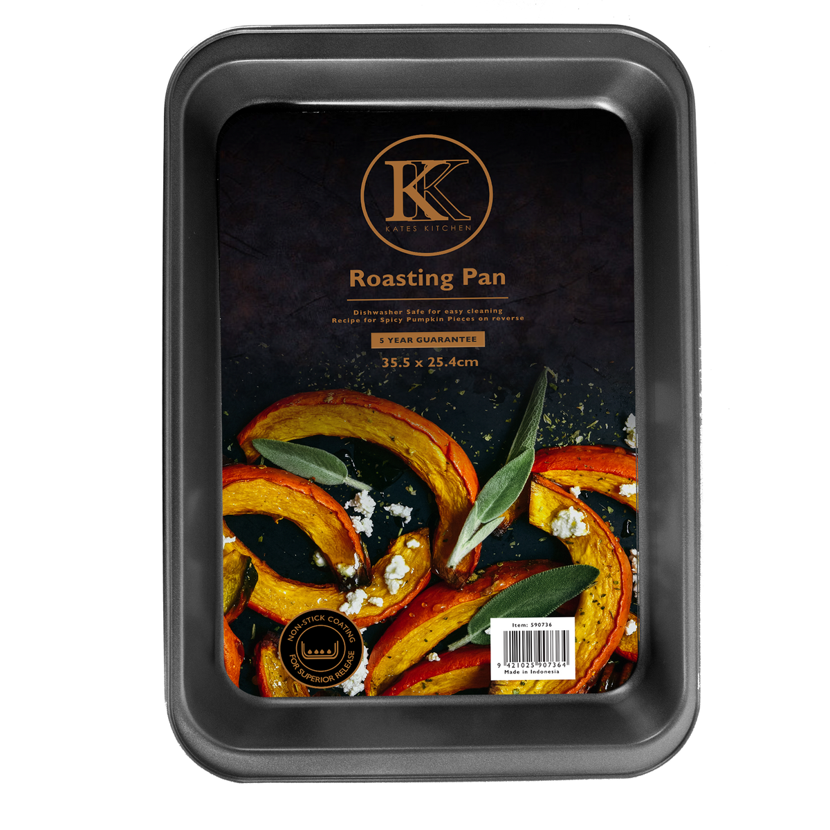 Kates Kitchen roasting dish  features a non stick design to give reliable baking results and years of excellent performance in the kitchen