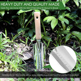Garden Hand Weeder And Trowel Tool Kit - Digging, Shovel, Grass Puller, Remover, Dandelions, Thistle, Lawn Picker, Claw Fork, Stainless Digger