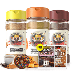Save big on the keto Buttery Cinnamon Roll, Pumpkin Pie Seasoning & Chocolate Donut Seasoning in the Coffee Lovers Pack.