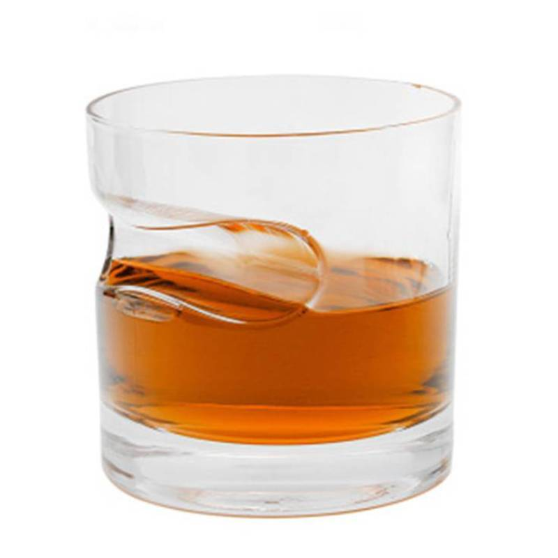 Verre à Whisky Porte Cigare <br> Fond Rond