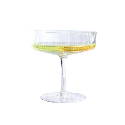Verre à Cocktail Coupe Carrée Striée | Cristal Sky