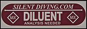 SD Diluent Tank Decal| AP Diving | Silent Diving | Scuba Rebreather