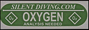 SD Oxygen Tank Decal| AP Diving | Silent Diving | Scuba Rebreather