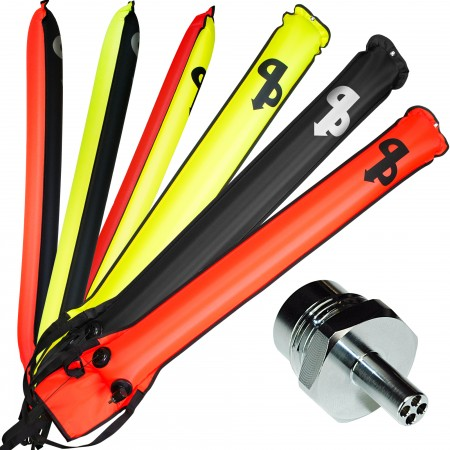 AP SELF-SEALING SMB MARKER BUOY WITH EASIFIL ADAPTOR| AP Diving | Silent Diving | Scuba Rebreather
