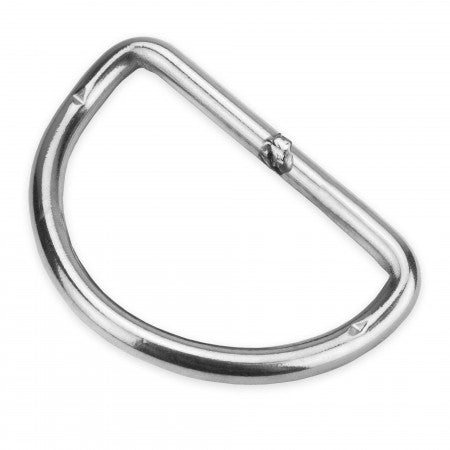50MM D-RING - STAINLESS STEEL (PRE-BENT)| AP Diving | Silent Diving | Scuba Rebreather