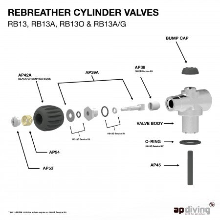 SPRING RETAINER BUTTON| AP Diving | Silent Diving | Scuba Rebreather