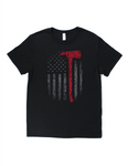 Firefighter Flag Axe Tee