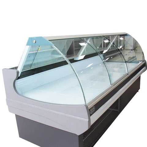 1.8m - 30m meat display counter 110v 60hz with lifting doors / sliding doors on China WDMA