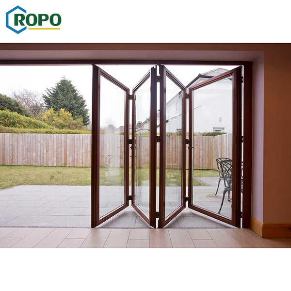 10 Year Warranty China Aluminum Balcony Patio Foldable Glass Folding Door Manufacture on China WDMA