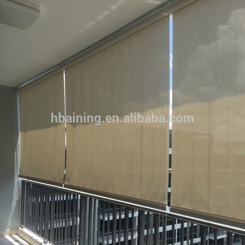 100% HDPE Exterior Roll Up folding Window Shades, Door Shades Protection of privacy on China WDMA