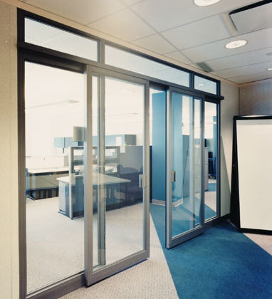 12Mm Aluminium Office Partition Tempered Glass Bi Folding Sliding Door Price on China WDMA