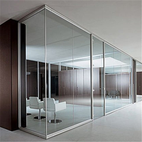 12mm tempered glass sliding office door wall panel cost on China WDMA