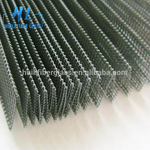 18*16 mesh hole size gray color plisse insects screen / sliding window folding net on China WDMA