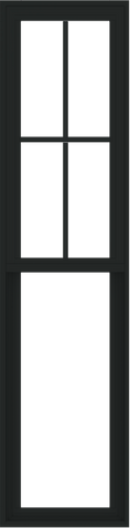 WDMA 18x72 (17.5 x 71.5 inch) Vinyl uPVC Black Single Hung Double Hung Window with Prairie Grids Interior