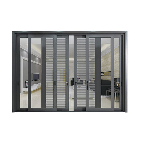 2.5mm heavy duty design 3 panel aluminum sliding door with screen on China WDMA