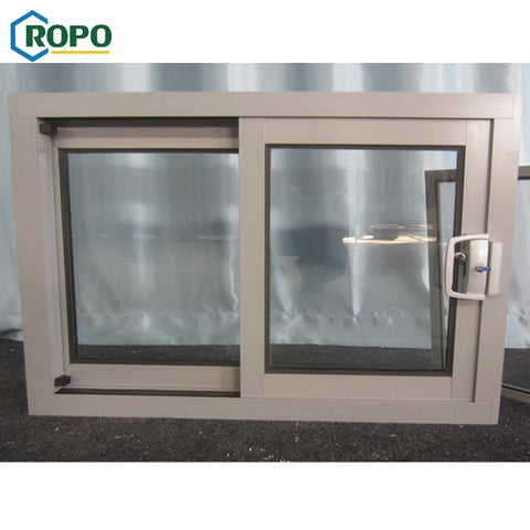 2 Track Cheap House Temper Glass Aluminum Alloy Frame Profile Slide Windows,Double Glaze Aluminum Slide Window Frame on China WDMA