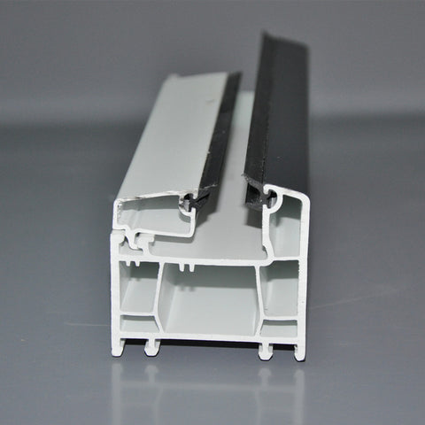 2 or 3 tracks sliding upvc profiles for construction doors and windows on China WDMA