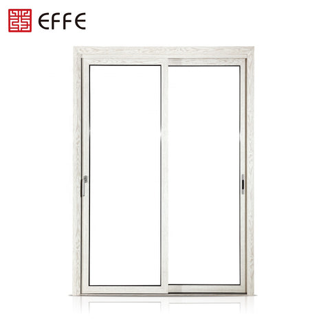 2 panel glass door exterior white fixed aluminum storm double leaf louvered doors on China WDMA