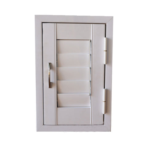 2016 New Design PVC UPVC Casement Window with louver shutter jalousie blinds for sale on China WDMA