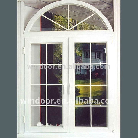 2016 new double pane french door, upvc frame +glass cheap price french door on China WDMA