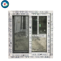 2017 Latest Design French style PVC sliding window with grills on China WDMA