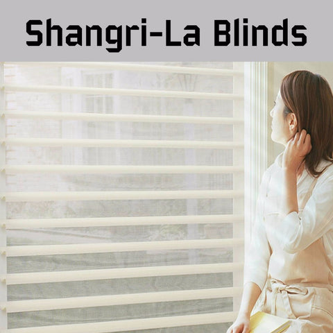 2017 Top Quality Double Layer Fabric Manual & Motorized electric Shangri-la Windows sheer Blinds for Home Decoration