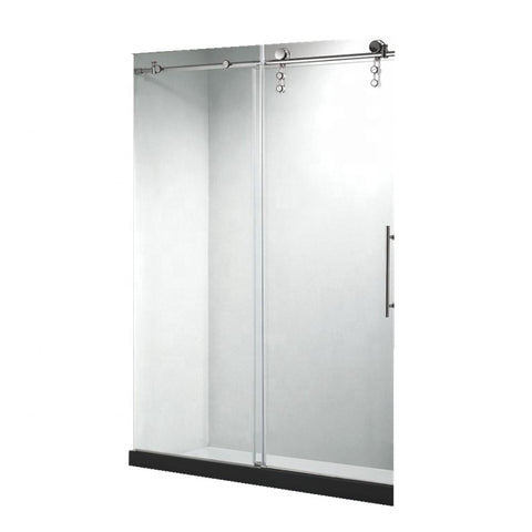 2017 cheap factory price new design hanging rollers sliding screen shower enclosure door on China WDMA