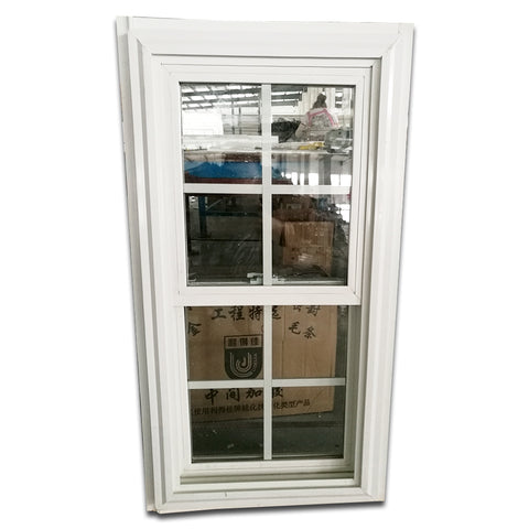 2018 Modern american style upvc material for hurricane impact windows single top hung vinyl windows