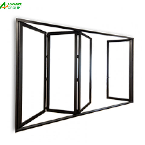 2018 best selling Retractable Mosquito Screen Folding / Bifold Door on China WDMA