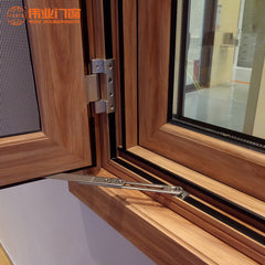 2019 China factory price swing wooden aluminium casement windows on China WDMA