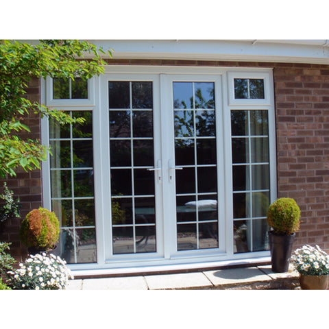 2019 China supplier french double glazed PVC UPVC patio sliding glass doors on China WDMA