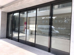 2019 High quality cheap price industrial aluminum automatic sliding door glass door on China WDMA
