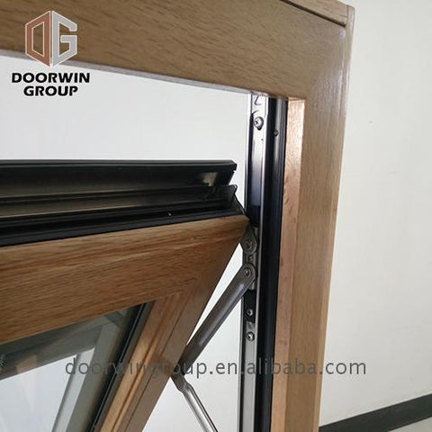 2019 hot sale wood window awning composite windows with built in shades on China WDMA