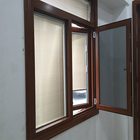 2019 hot sales aluminum glass window with screen swing panel frame on China WDMA