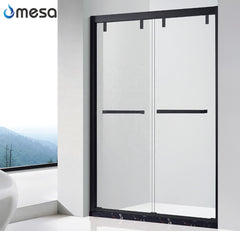 2019 new high quality black painted SUS304 frame sliding shower doors with wheels on China WDMA