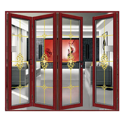 2019 new products heavy folding doors series exterior folding doors soundproof folding door living room on China WDMA