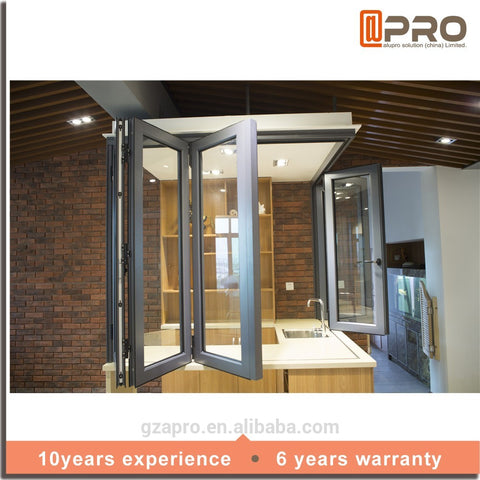 2020 Most popular cheap house folding glass windows aluminum folding window doors folding deck balcony window on China WDMA