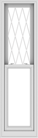 WDMA 20x72 (19.5 x 71.5 inch)  Aluminum Single Double Hung Window with Diamond Grids