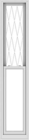 WDMA 20x96 (19.5 x 95.5 inch)  Aluminum Single Double Hung Window with Diamond Grids