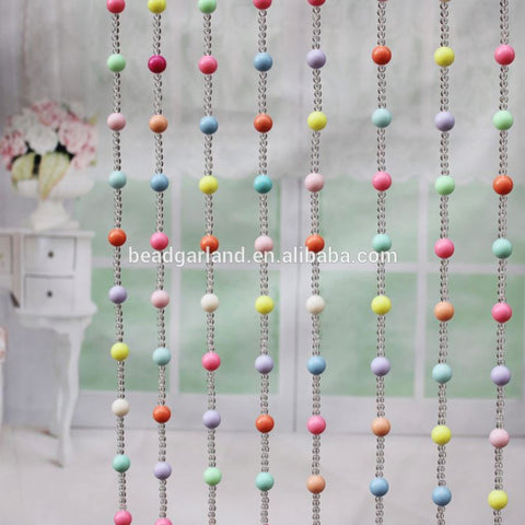 21MM roses 6MM&12MM clear round crystal beaded curtains for doorway on China WDMA