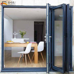 23 inch 3 panel bifold doors double opening french patio doors on China WDMA
