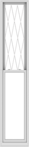 WDMA 24x120 (23.5 x 119.5 inch)  Aluminum Single Double Hung Window with Diamond Grids
