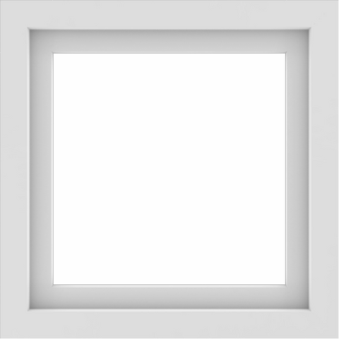 WDMA 24x24 (23.5 x 23.5 inch) Vinyl uPVC White Picture Window without Grids-1