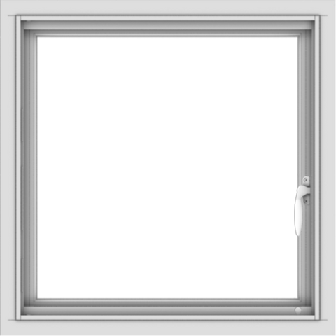 WDMA 24x24 (23.5 x 23.5 inch) Vinyl uPVC White Push out Casement Window without Grids Interior