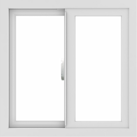 WDMA 24x24 (23.5 x 23.5 inch) Vinyl uPVC White Slide Window without Grids Interior