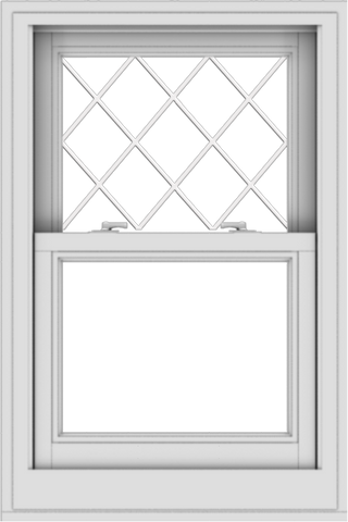 WDMA 24x36 (23.5 x 35.5 inch)  Aluminum Single Double Hung Window with Diamond Grids