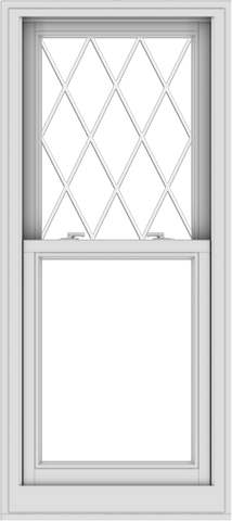 WDMA 24x54 (23.5 x 53.5 inch)  Aluminum Single Double Hung Window with Diamond Grids