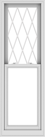WDMA 24x72 (23.5 x 71.5 inch)  Aluminum Single Double Hung Window with Diamond Grids