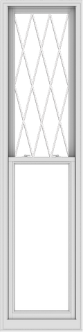 WDMA 24x96 (23.5 x 95.5 inch)  Aluminum Single Double Hung Window with Diamond Grids