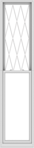 WDMA 28x120 (27.5 x 119.5 inch)  Aluminum Single Double Hung Window with Diamond Grids
